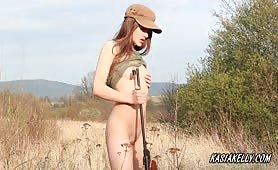 Kasia masturbate as Soldier
